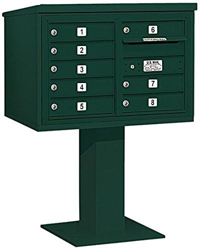 Salsbury Industries 3405d-08grn 4 C Pedestalメールボックス、グリーン   B005HDYWQ8