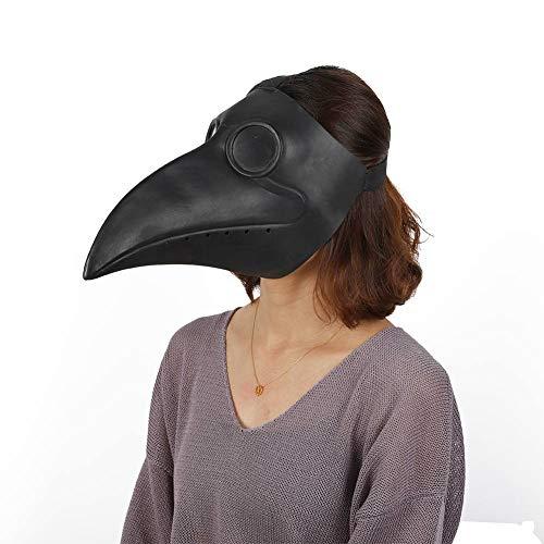 Smartcoco Halloween Costume Latex Black Beak Bird Animal Head Mask for Halloween Masquerade Party -