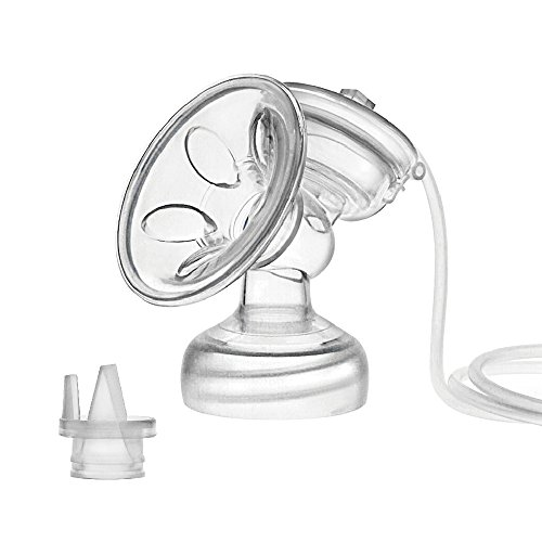 (Maymom Flange Kit for Philips Avent Comfort Breastpump, One-Side; Flange, Valve, Tube, Massage Pad, Suction Membrane, Cap)