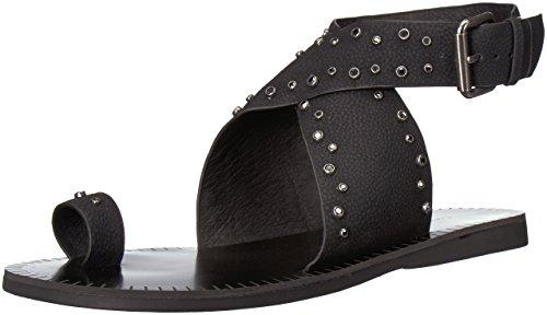 Chinese Laundry Women's Jessa Flat Sandal, Black Nubuck, 8 M US