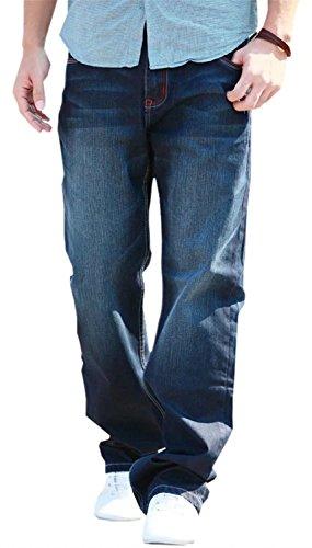 DigerLa Mens Hip Hop Baggy Denim Jeans Pants Trousers