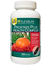 TruNature Prostate Plus Health Complex - Saw Palmetto with Zinc, Lycopene, Pumpkin Seed, Cranberry - 250 Softgels (1 Bottle)