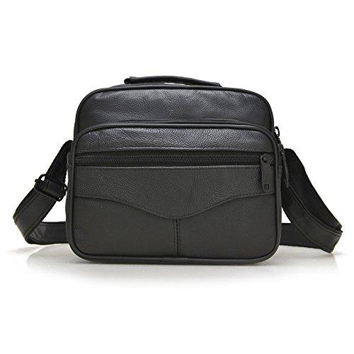 Meoaeo Classic Bags Neue Leder Herren Taschen Für Männer Single Schulter Cross section size black