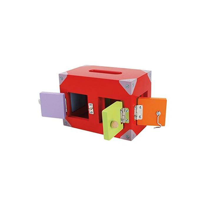41ecGbNPI4L Una caja con muchas ventanas y puertas de colores. Todos están equipados con diferentes cierres. Aquí se necesita atención y resistencia.