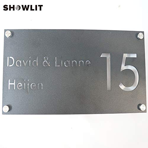 [해외]Custom Family Name Plate Black Stainless Steel Laser Cutting Name Plaque Custom Available / Custom Family Name Plate Black Stainless Steel Laser Cutting Name Plaque Custom Available