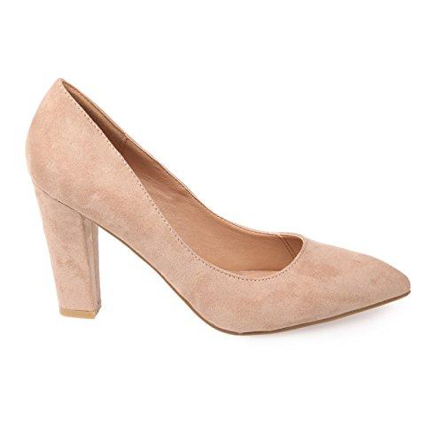 La Modeuse-Sandalias de piel de ante, diseño clásico Beige - beige