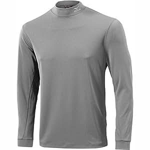 2015 Mizuno Yomo Thermal Mock Winter Golf Base Layer Longsleeve Shirt Light Grey Small