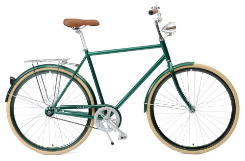 Critical Cycles Diamond Frame 1-Speed Hybrid Urban Commuter Road Bicycle, British Racing Green, Small/50cm For Sale