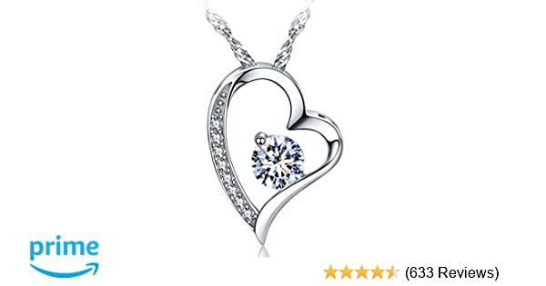 Amazon sephla 14k white gold plated forever lover heart pendant amazon sephla 14k white gold plated forever lover heart pendant necklace jewelry aloadofball Gallery