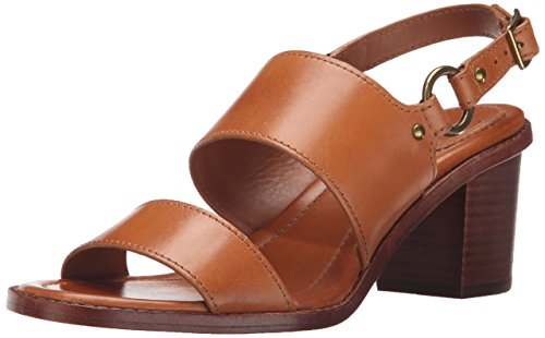 Frye de Polished Smooth la arnés Tan mujer Veg Brielle vestido Leather de Sandalias rpwFqxXpR1