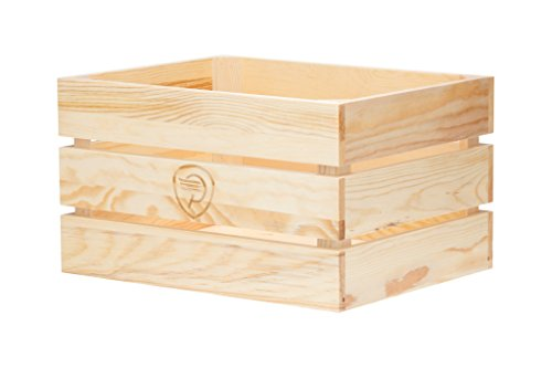 Pure City Classic Rear Mount Wooden Bicycle Crate, Natural