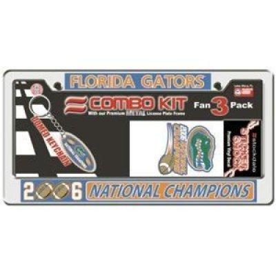 Florida Gators 2006 National Champions Combo Kit - License Plate Frame, Key Chain & (Florida Gators Tailgate Kit)