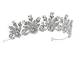 Silver Tone Rhinestone Tiara for Brides