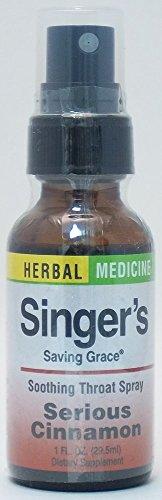 Herbs Etc, Throat Spray Singers Saving Grace Cinnamon, 1 Ounce