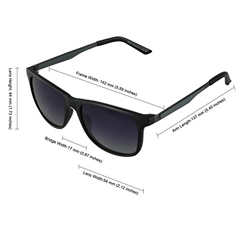 Duco Premium Flexible Polarized Sunglasses 100% UV protection 3030 Black