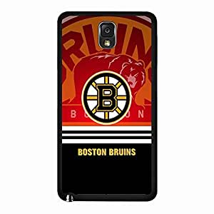 Samsung Galaxy Note 3 case Black Boston Bruins NHL Hockey Team Logo Sports for Men Design Hard Phone Accessories Protective Case Cover for Samsung Galaxy Note 3