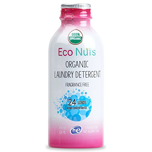 Eco Nuts Organic Liquid Laundry Detergent for Cloth Diapers and Formula Stains, 4 Ounces for 24 Loads (4 Eco Soap Ounce)