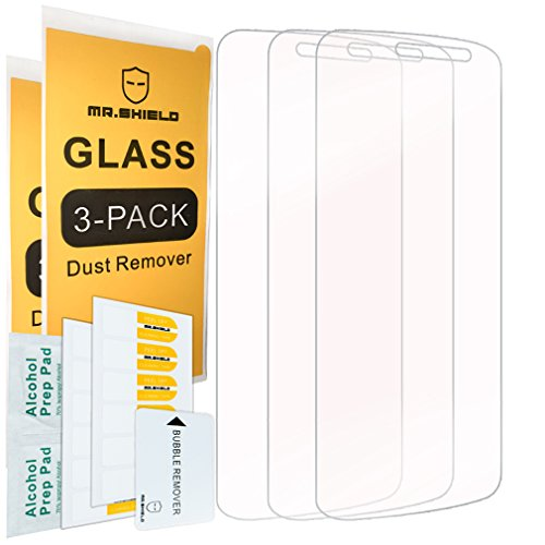 [3-PACK]-Mr Shield For ZTE Majesty Pro 4G LTE [Tempered Glass] Screen Protector with Lifetime Replacement - 3 Majesty