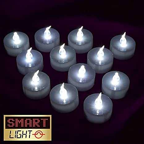 New Tea Light LED Candles Realistic Battery Included Flameless Fake Candles YG