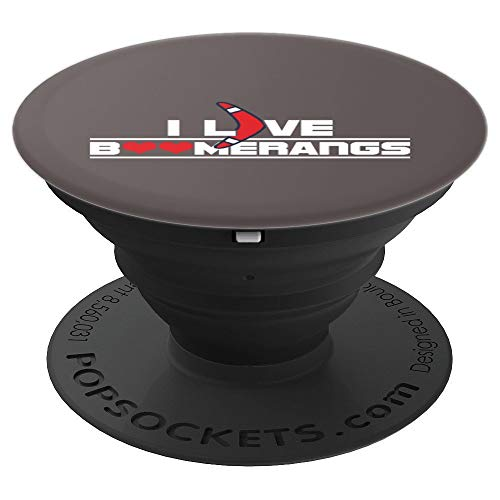 Boomerang Love (I Love Boomerang Air Game Sports Pop Socket Grip - PopSockets Grip and Stand for Phones and Tablets)