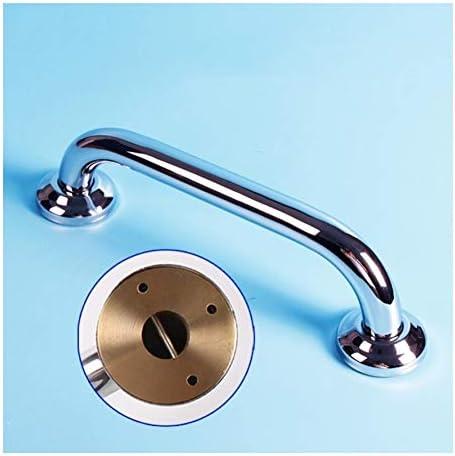 Ältere Patienten Hilfshandlauf Badezimmer Haltegriff, Edelstahl verchromt Kupferbasis Benutzerdefinierte Größe Anti-Rutsch-Sicherheits Bad Multifunktions-Schraube eingebettete ( Size : 50cm )