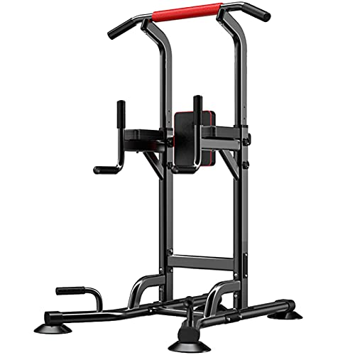 Verstelbare Power Tower Pull Up Bar Dip Stand, Multifunctionele Workout Station voor Home Gym Krachttraining, Gewicht…