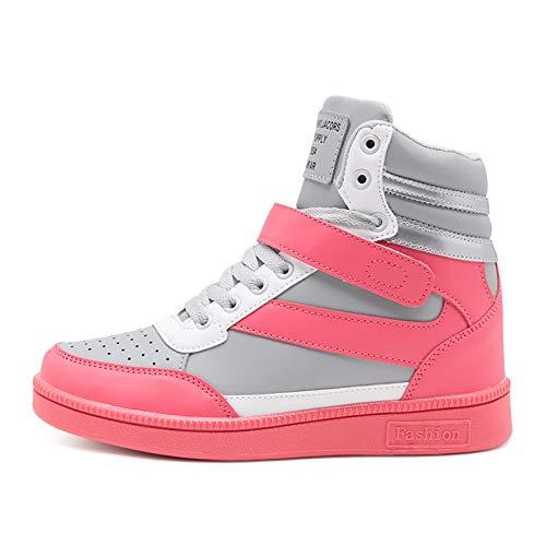 Deporte Aumentar Altas Zapatillas Deportivas De Gris Mujer Ligeras Liangxie E Zapatos Informales Para Invierno Espesar Correr Otoño OpqwWP