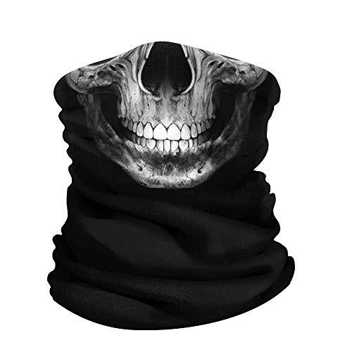 WIRESTER Bandana Mask, Headwear, Scarf for Running, Cycling, Fishing, UV Protection - Grim Reaper Skull, Medium -