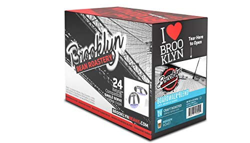 Brooklyn Beans Boardwalk Blend Single Serve Coffee Cups, 24 Count