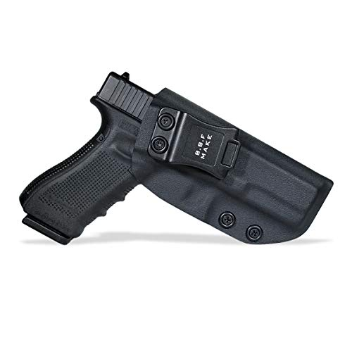 B.B.F Make IWB KYDEX Holster Fit: Glock 17 22 31 (Gen 1-5) | Retired Navy Owned Company | Inside Waistband | Adjustable Cant (Black, Right Hand Draw (IWB))