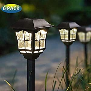 MoSolar 6 Lumens Solar Path Lights Outdoors Waterproof Security Solar Garden Lights Solar Powered LED Landscape Lights, Automatic Led for Patio, Yard, Walkway, Garden and Driveway, 6 Pack