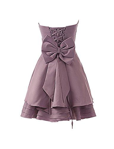 d1c251214a2b76 Sarahbridal Damen Mini Satin Kleider Bandeau Abendkleider Kurze Ballkleid  Abschlussleider SSD178 Koenigsblau-a aichy ...