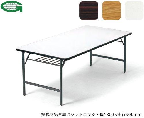 折りたたみテーブル(幅120×奥行45cm)(ソフトエッジ)(ワイド脚)(TW-1245SE)(RO(M7)) B003ZKDNWE RO(M7) RO(M7)