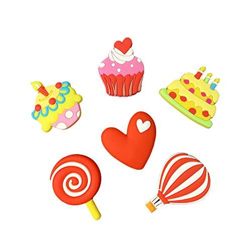 VLOOK Fridge Magnets for Kids Cartoon Birthday Cake Set Magnetic Toys for Toddlers Whiteboard Fridge Noticeboard Baby Magnets