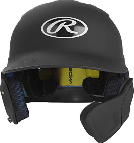 - Rawlings MACHEXTR-B7-SR 2019 Mach Baseball Batting Helmet, Matte Black