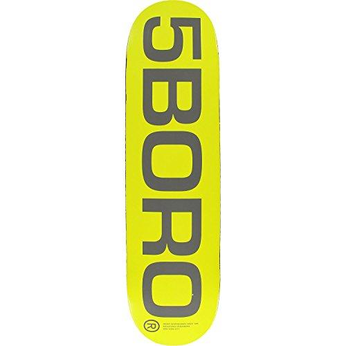 全滅させる失キャンペーンFive Boro 5boro Extロゴスケートボードデッキ- 8.25イエロー/グレーデッキ – Assembled as complete skateboard