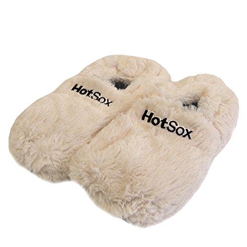 Zapatillas térmicas Pantuflas de granos para el microondas y el horno talla M / EU36-45 - Zapatillas para microondas Pantuflas térmicas Crema