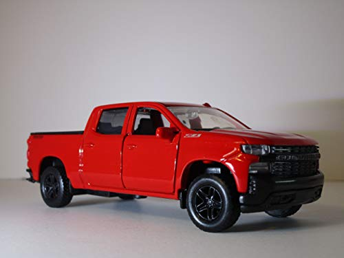 American Legends Motor MAX Pull Back and Go Red 2019 Chevy Silverado Trail Boss Crew Cab Premium Die-Cast - Diecast Cab