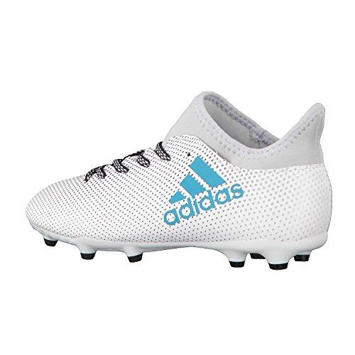 adidas X 17.3 Fg J, Botas de Fútbol Unisex Niños Blanco (Ftwbla/Azuene/Gritra)