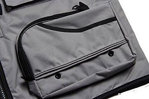 Herren Sportlich Schnell Trocknend Taktische Weste Multitasche Anglerweste Jacke Fotografie,Grey-XL