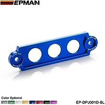 EPMAN Aluminium Jdm Style Battery Tie Down Mount Bracket For Honda Civic , Integra, S2000 (Blue)