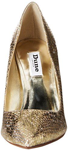 Dune London Womens Betsee Dress Pump Gold Print Leather AjWrVE