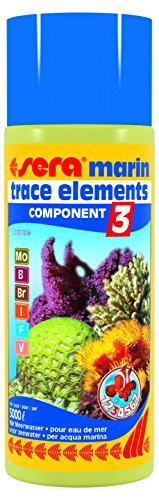 sera Marin Component 3 Trace Elements Anionics 500 Ml, 16.9 fl.oz Aquarium Treatments (Sera Component Marin)