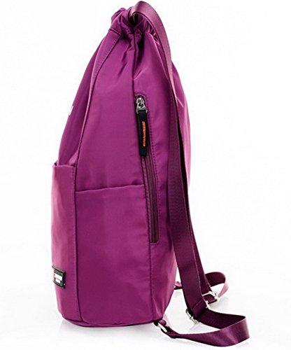 AllhqFashion bandoulière bandoulière Sacs à Poly à léger coton Violet Sacs Femme Poids rnv08SrA