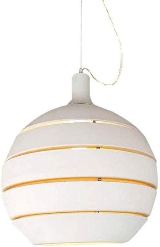 Lámpara Colgante Redonda Cubierta De Aluminio Blanco De Metal Colgando De Luz Esférica E27 Diseño De La Sala Mesa De Comedor Oficina Dormitorio Decoración Iluminación De La Escalera Pasillo: Amazon.es: Iluminación