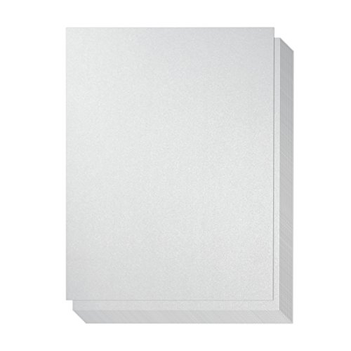 48 Count Metallic Silver Stationary Paper / Invitation Paper for Writing, Scrapbooking, Letters, Certificates, Crafts, 8.5 x 11 Inches