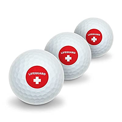 Lifeguard Red and White Novelty Golf Balls 3 Pack