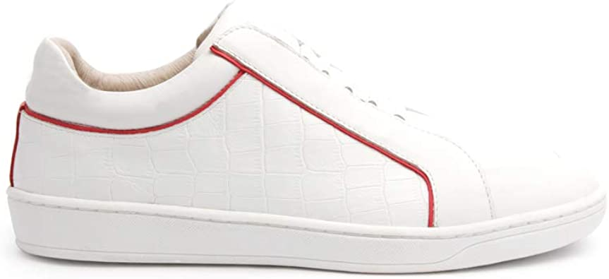 Duke White Pink Leather Sneakers