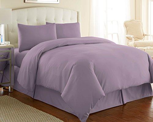 Southshore Fine Linens 3 Piece - Oversized Duvet Cover Set (King, (Lavender Duvet Set)