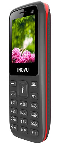 Inovu A9i Dual Sim Feature Mobile Phone with 800 mAh Battery (Black+Red)
